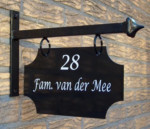 Verwonderend Naambordje kopen, al vanaf 4.95 Euro, geheel op maat. VY-78
