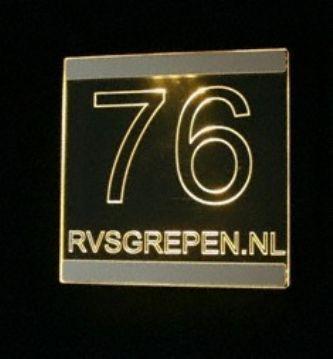 Verlichte naamborden led voordeur