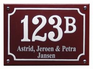 De mooiste en leukste naamborden en huisnummers bestel je online!