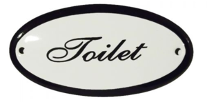Goedkoop emaille toilet bordje