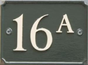Cottage huisnummers van staal in Engelse stijl